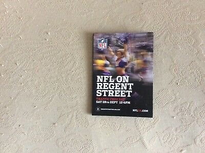 NFL on Regent Street 2013 Brochure