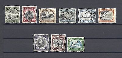 COOK ISLANDS 1944-46 SG 137/45 USED Cat £140
