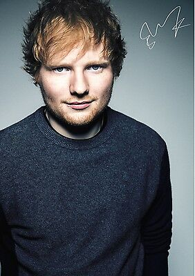 Ed Sheeran Poster  / Photo - Excellent Signed A4 Print