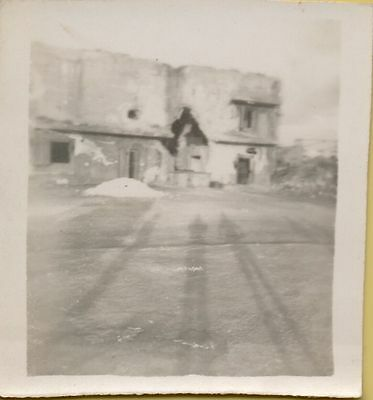 Lot of 10 Vintage photographs WW2 Japan destroyed homes tower dogs show 1940's