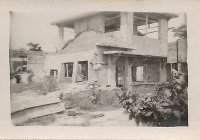 Lot of 12 Vintage photographs WW2 Japan destroyed homes showers tower 1940's