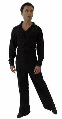 Crease Resistant Mens Elasticated Latin Trousers
