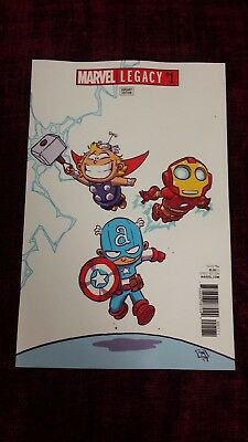Marvel Legacy #1 Skottie Young Variant (Marvel, 2017) Brand New/Unread 9.2/NM-