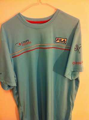 Eugenie Bouchard Autographed Rogers Tennis Cup Official Fila T Shirt