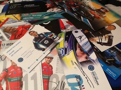 Formula E Official Team Cards Hand Signed By All 22 Pilots + EJ