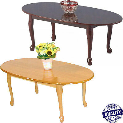 Queen Anne Oval Coffee Table Traditional Living Dining Room Lounge Vintage Retro