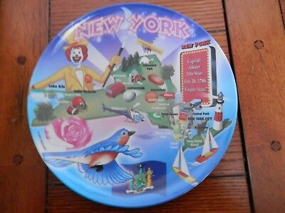 McDonalds  2007 Collector's Plastic  Plate, New York