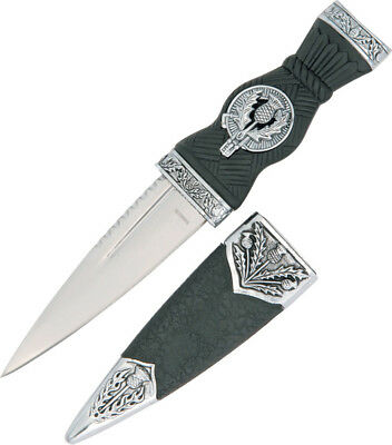 """China Made Mini Scottish Dirk Knife 210555 6 5/8"""" overall. 3 3/8"""" stainless blad"""