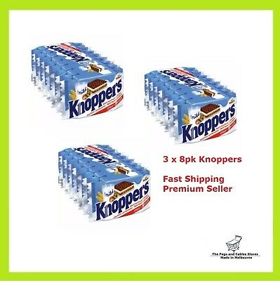 Knoppers 3 x 8pk Waffle Sandwich Chocolate MADE IN GERMANY
