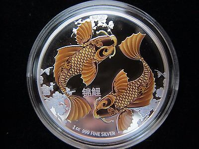 2012 Niue Feng Shui Koi Silver Proof Coin New Zealand Mint 1st in Series