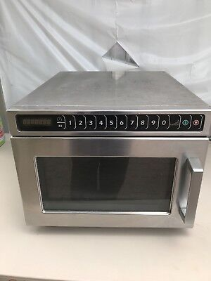 Amana HDC12A2 Heavy Duty Stainless Steel Restaurant Commercial Microwave