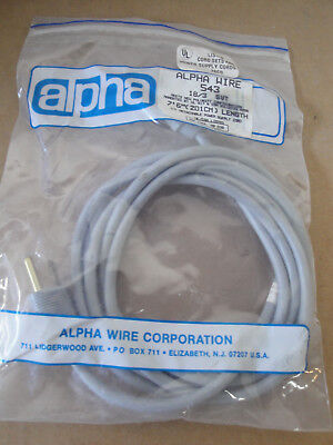 """Wulitzer 200 Electric Piano 7ft 6"""" 18/3 Oval PH 163 Vintage Power Cord-Grey"""