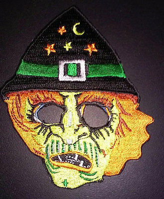 WITCH MASK Embroidered PATCH from vintage Halloween Ben Cooper / Collegeville