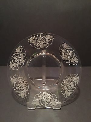 "Morgantown Glass ""Milan"" 8"" Luncheon Plate (Multiple Available) Etch 7668"