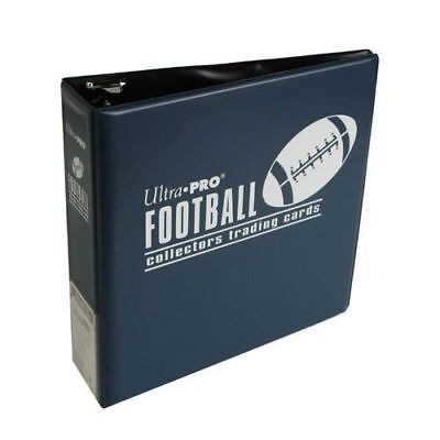 "Case Of (6) Ultra Pro 3"" Blue Football Collectors Trading Card Album Binder BLUE"