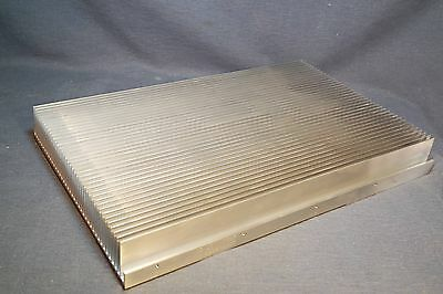 """13.5 Lb Large Aluminum Heat Sink From Cell Tower Amplifier 17.5"""" x 11.5"""" x 2"""" #2"""