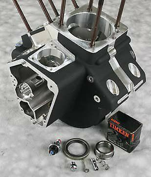"ENGINE CASES S&S 106"" 107"" 113"" ULTIMA BLACK HARLEY EVO MOTOR 1992-LATER 4"" bore"