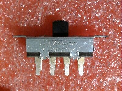 4 Pc Ark-Les 1A 125Vac 0.5A 125Vdc Dp3T On/on/on 2 Pole Total 8 Lug Slide Switch