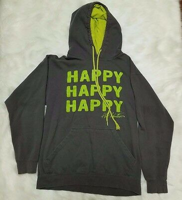 Duck Dynasty Happy Happy Happy Gray Phil Robertson Green Hoodie Size S Small
