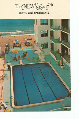 Vintage postcard Florida The New Surf Motel and apartments posted