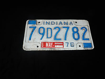 1975 INDIANA License Plate 79 D 2782