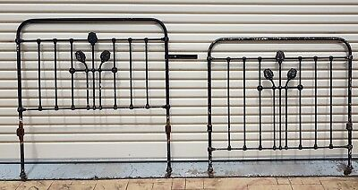 Vintage Cast / Wrought Iron Bed Ends Garden Features