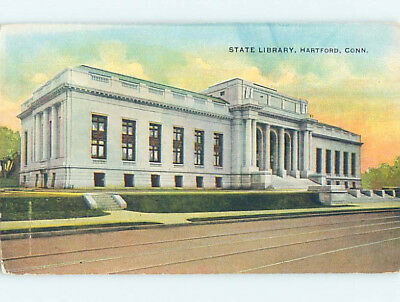 Unused Divided Back LIBRARY SCENE Hartford Connecticut CT hs2452