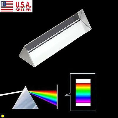 10CM Crystal Optical Glass Triangular Prism for Teaching Light Spectrum Physics
