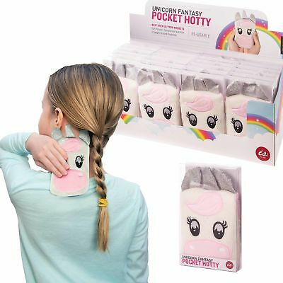 POCKET HOTTY - UNICORN - Cute Soft Touch Cover Pocket Reusable Hand Warmer **NEW
