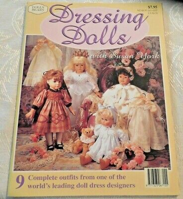 NEW Dressing Dolls With Susan York Pattern Book w Inserts/Instructions 9 Outfits