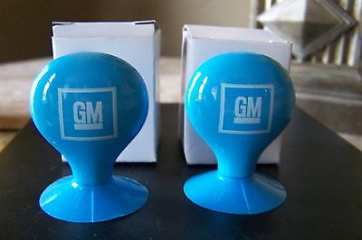 """2 General Motors Employee GM 2"""" Blue Balloon Water Tower Suction Cup!!"""