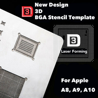 3D Reballing Stencil Template for iPhone6/6P/6S/6SP/7 Apple A8 A9 A10 CPU IC