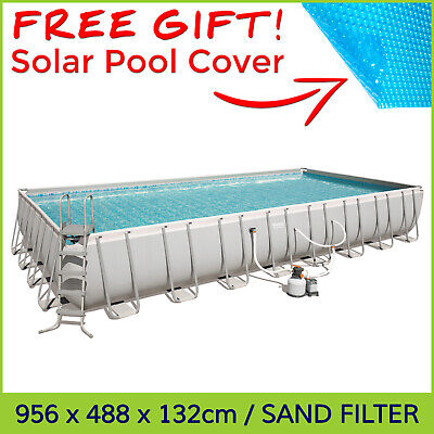 🎁 Bestway Power Steel XL Size Above Ground Swimming Pool 9.56 x 4.88 x 1.32 m
