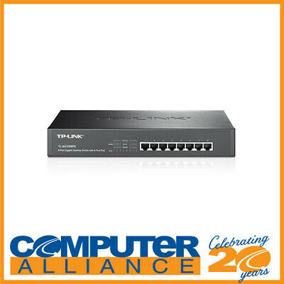 8 Port TP-Link TL-SG1008PE Gigabit Network Rackmount Switch with Power over Ethe