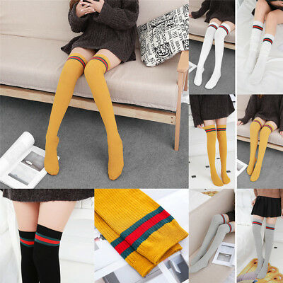 High Fashion Girls Women Thigh High OVER the KNEE Socks Long Cotton Stockings IT