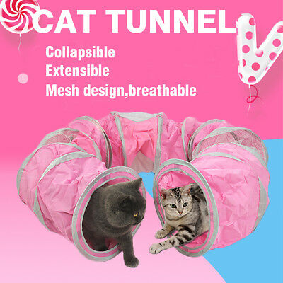 Pet Cat Kitten Tunnel Collapsible Tunnel Cat Rabbit Outdoor Playing Toy Tunnels