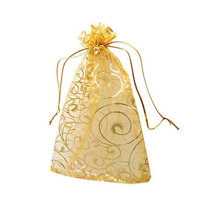 100pcs 9x12cm Jewelry Packaging Bags Wedding Christmas Pouches Organza Useful