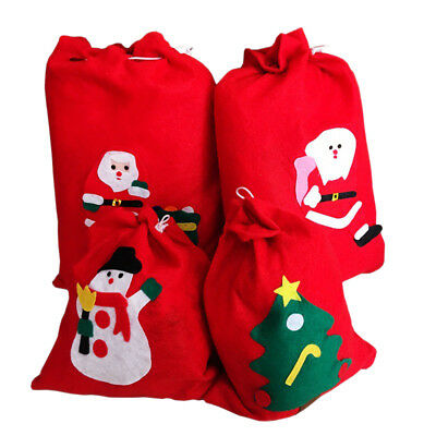 Bolsa Navidad Santa Claus Snowman Christmas Tree Holder Candy Gift Bag Sack