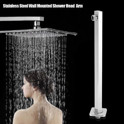 """16"""" 40cm Square Chrome Wall Mounted Shower Extension Arm For Rain Shower Head"""