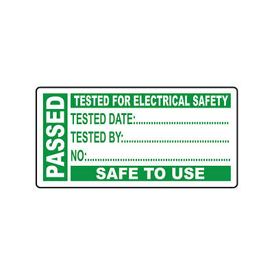 """""""Passed"""" Portable Appliance Test Labels - Pack of 50"""