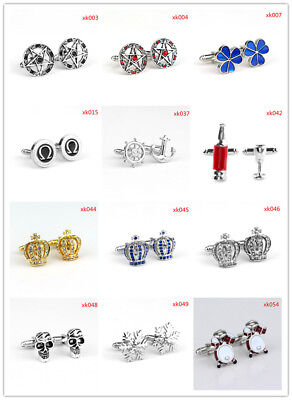 2017 Hot Sale Fashion Men Jewelry Fine Cufflinks 36 Styles For Choice 1 Pair