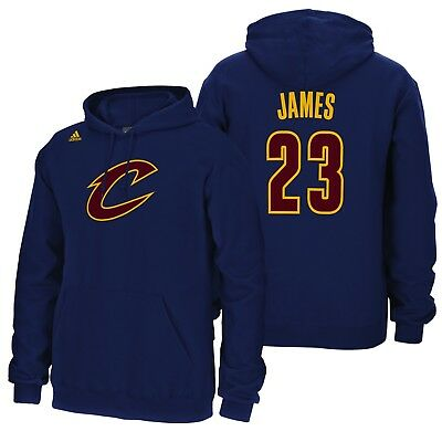 Adults Large Cleveland Cavaliers adidas Name&Number Hoodie LeBron James M182