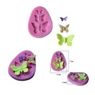 New Silicon Fondant Chocolate Cake Mold Decoration 3 Butterfly's