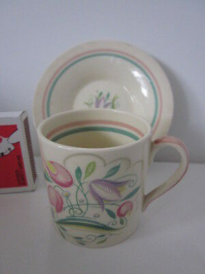 Susie Cooper Crown Works England Dresden Spray Coffee Duo