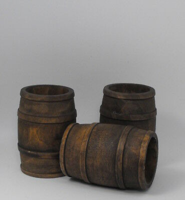12th scale large Tudor wooden barrels by Rycote Miniatures.
