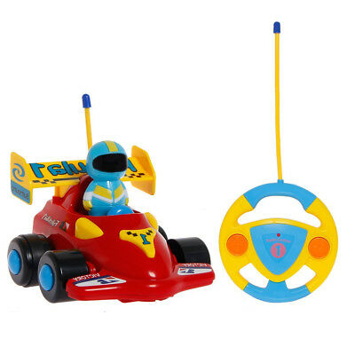 SGILE Cartoon RC Race Car Remote Control Toy with Music and Lights For Kids Red