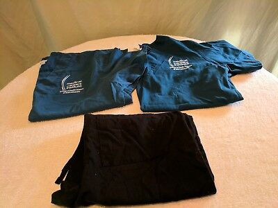 Ladies Scrubs Shirts and pants size Small Lot of 3