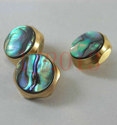 1set trumpet finger buttons pearl 3 pcs real abalone shell flashing pearl new