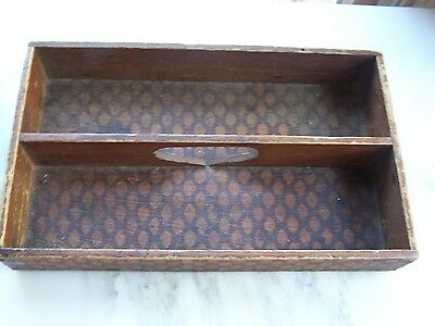 Collectible Vintage Wooden Divided Box - Honeycomb Pattern - Nice!