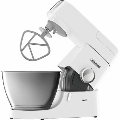 Kenwood Chef Kitchen Machine 4.6 Litre Stand Mixer + 3 Bowl Tools Variable Speed